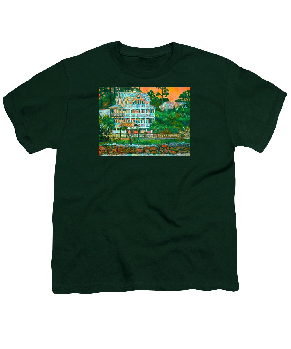 Landscape Youth T-Shirt featuring the painting Pawleys Island Evening by Kendall Kessler