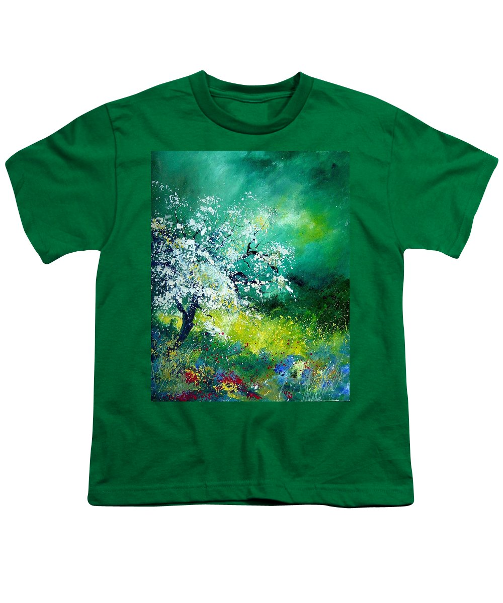 Flowers Youth T-Shirt featuring the painting Spring by Pol Ledent
