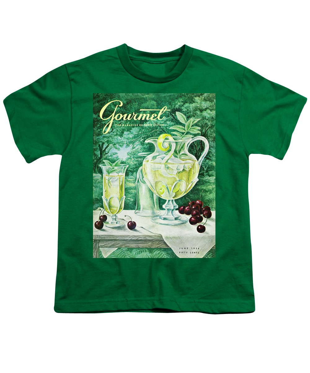 Food Youth T-Shirt featuring the photograph A Gourmet Cover Of Glassware by Hilary Knight