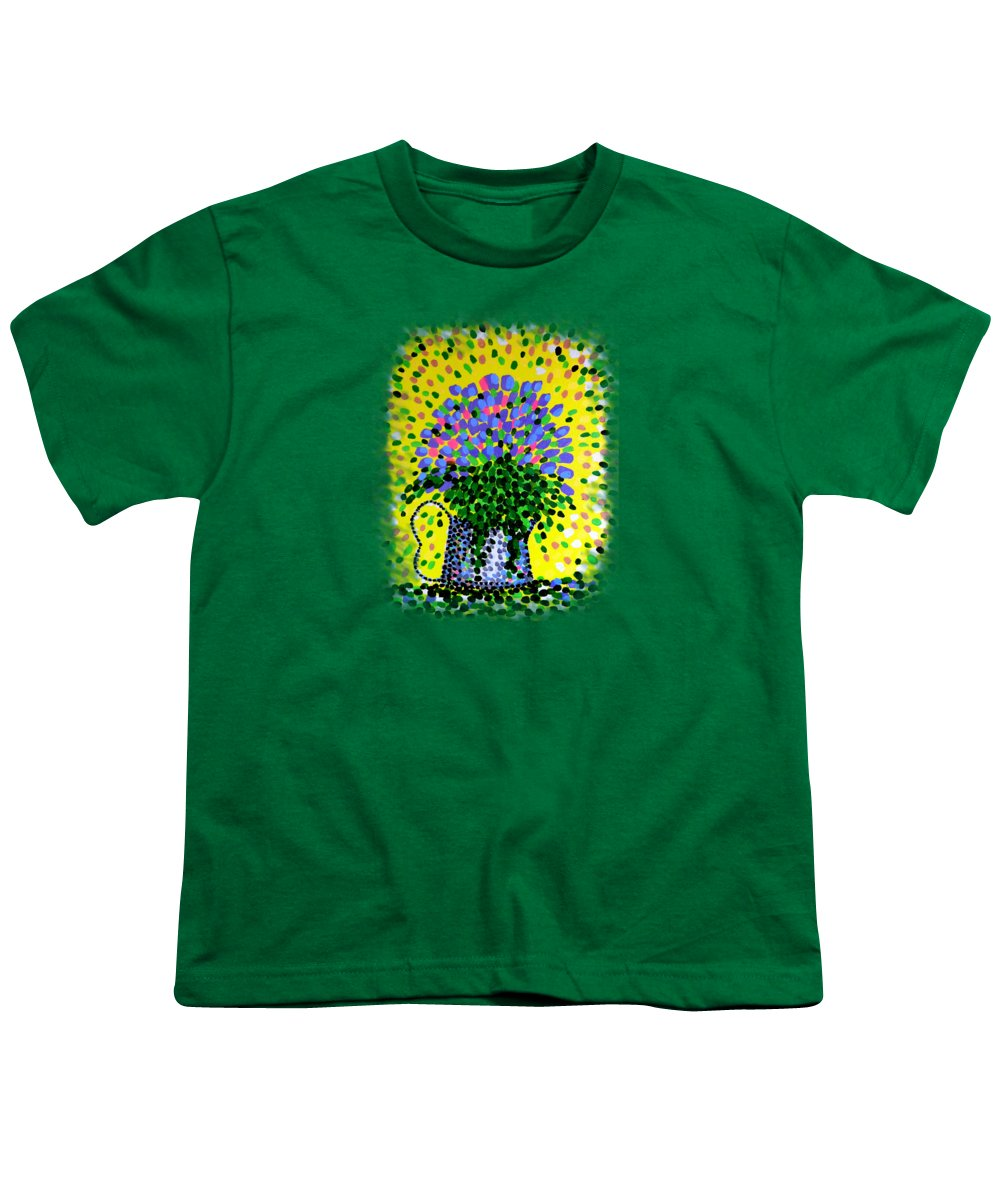 Flowers Youth T-Shirt featuring the painting Explosive Flowers by Alan Hogan