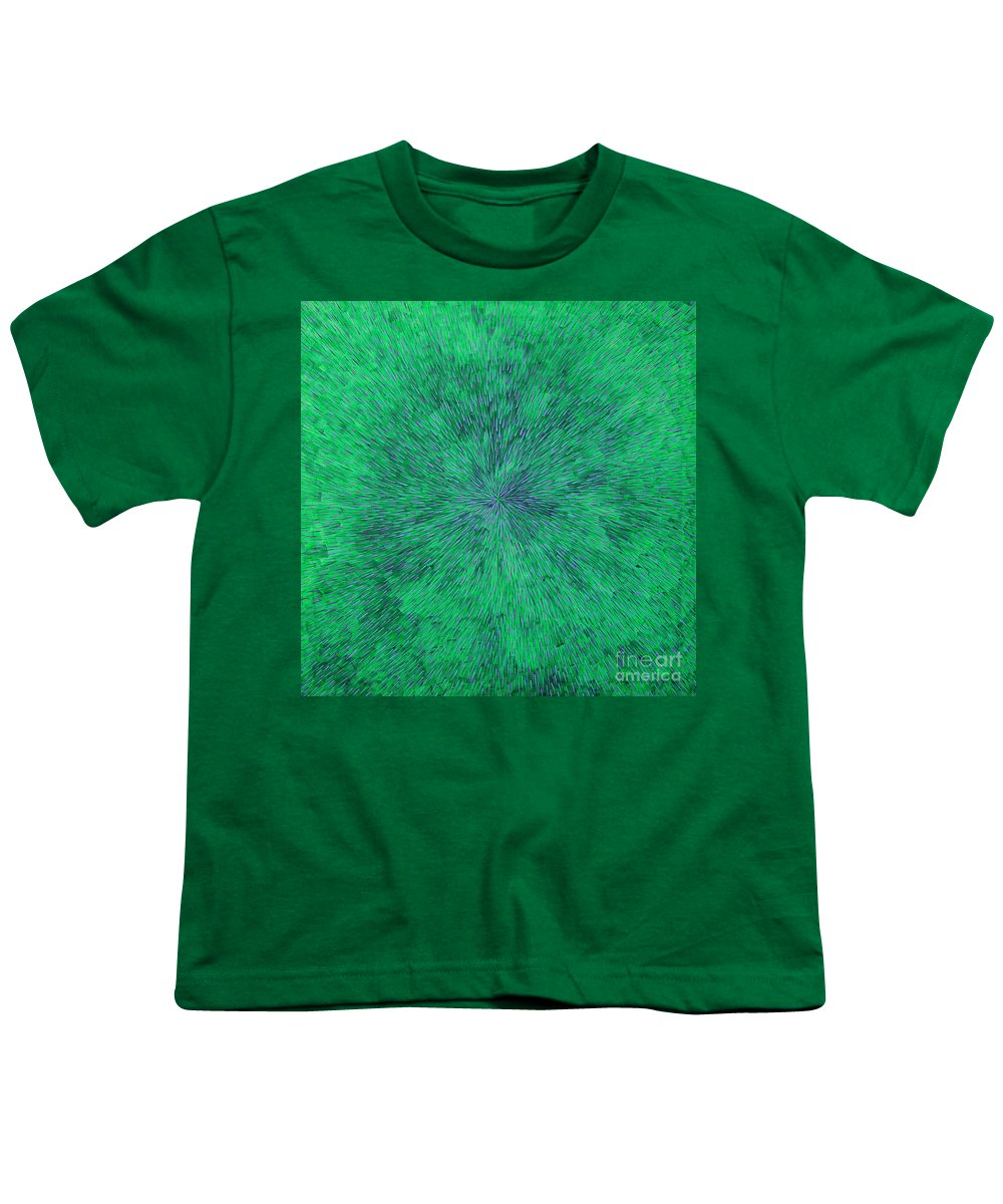 Abstract Youth T-Shirt featuring the painting Green Radation With Violet by Dean Triolo