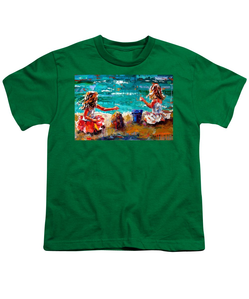 Seascape Youth T-Shirt featuring the painting Her Blue Bucket by Debra Hurd
