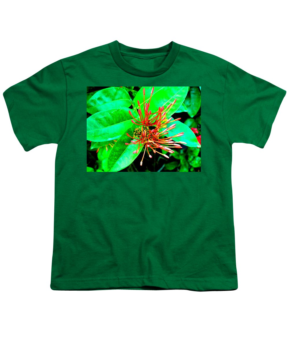 Flower Youth T-Shirt featuring the photograph In My Garden by Ian MacDonald
