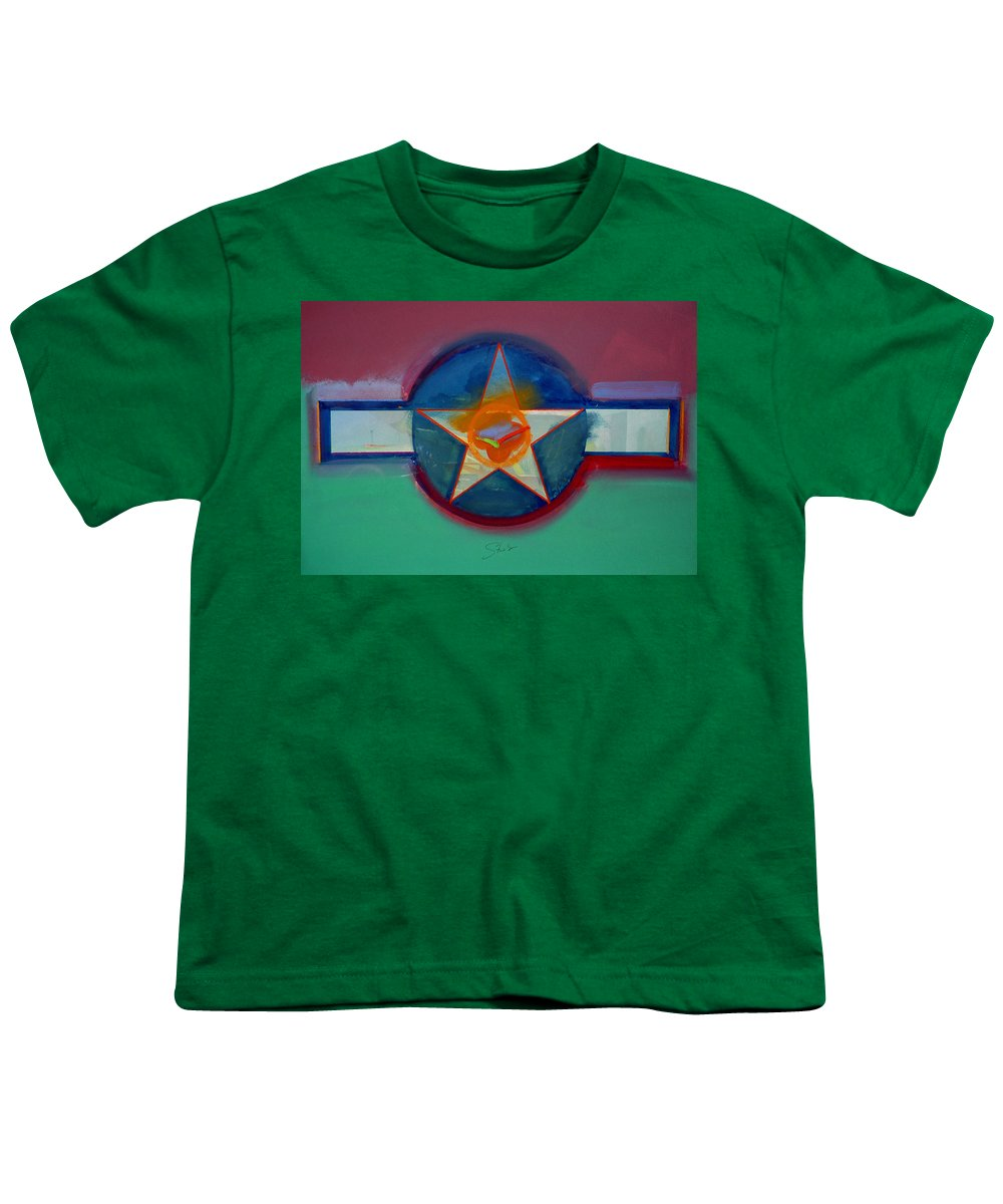 Star Youth T-Shirt featuring the painting Landscape In The Balance by Charles Stuart