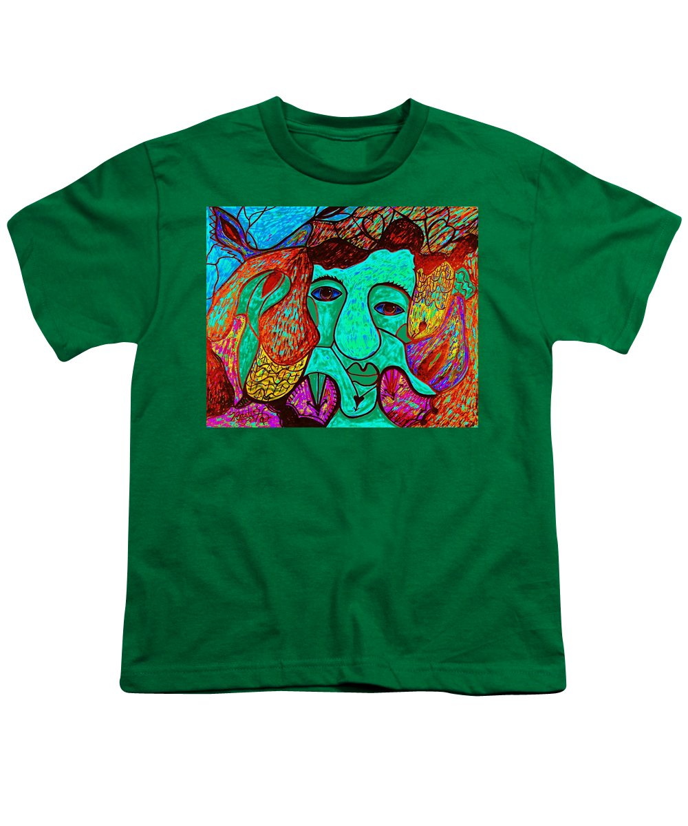 Man Youth T-Shirt featuring the painting Looking For Love by Natalie Holland