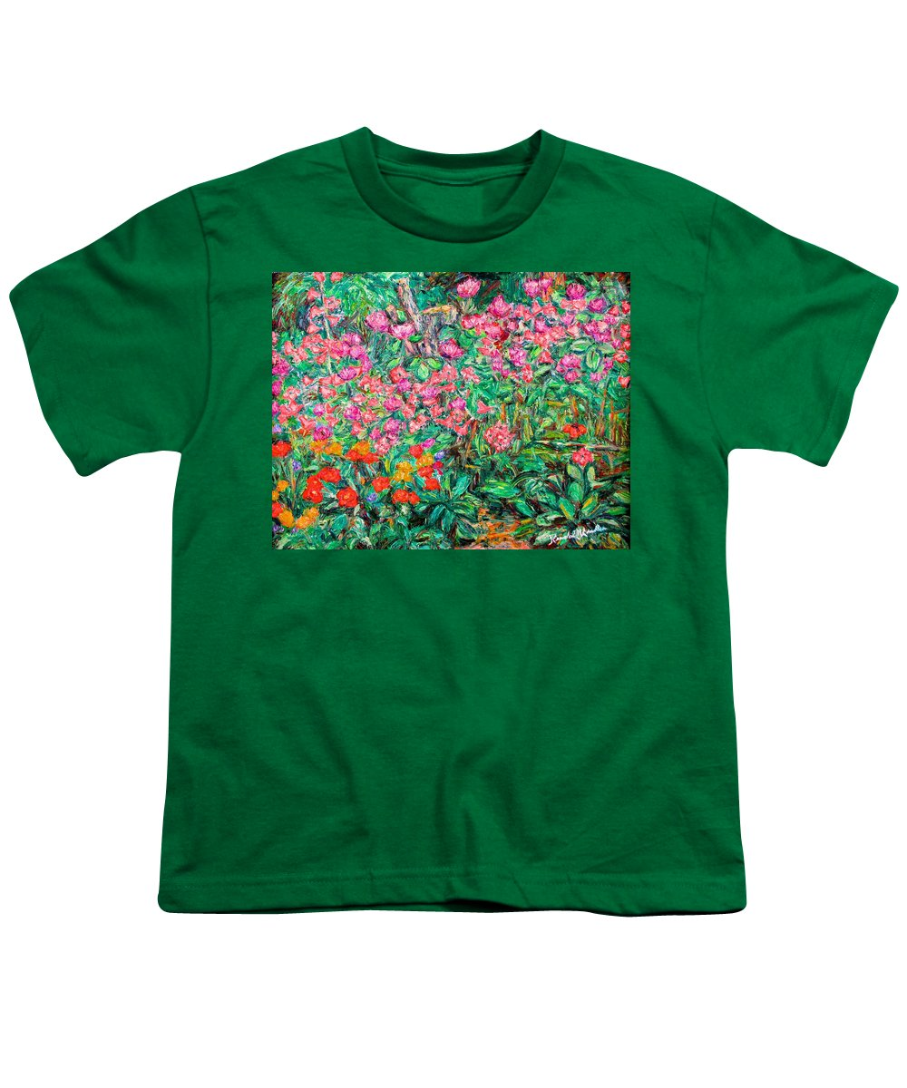 Kendall Kessler Youth T-Shirt featuring the painting Radford Flower Garden by Kendall Kessler