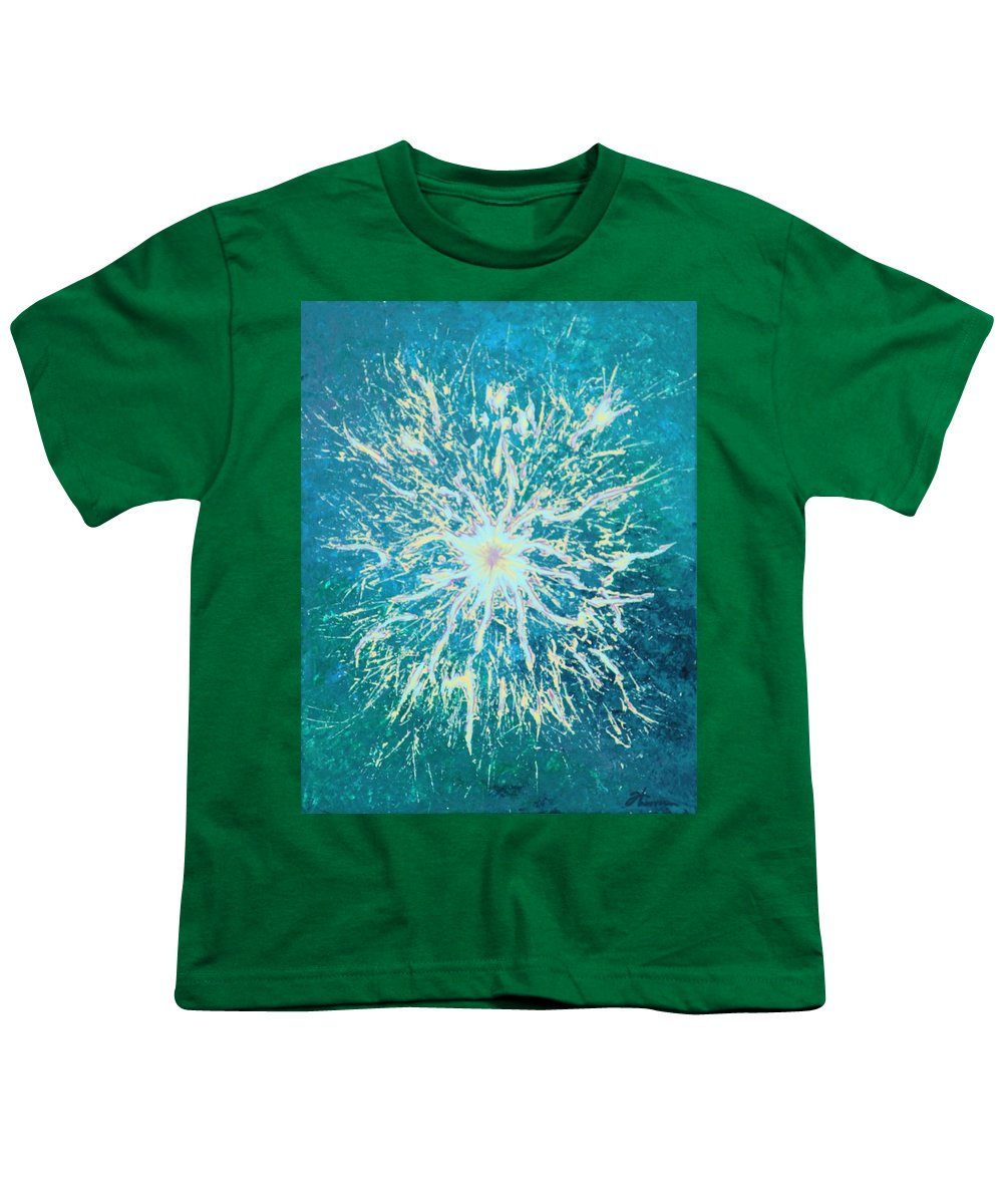 Acrylic Youth T-Shirt featuring the painting Static by Todd Hoover