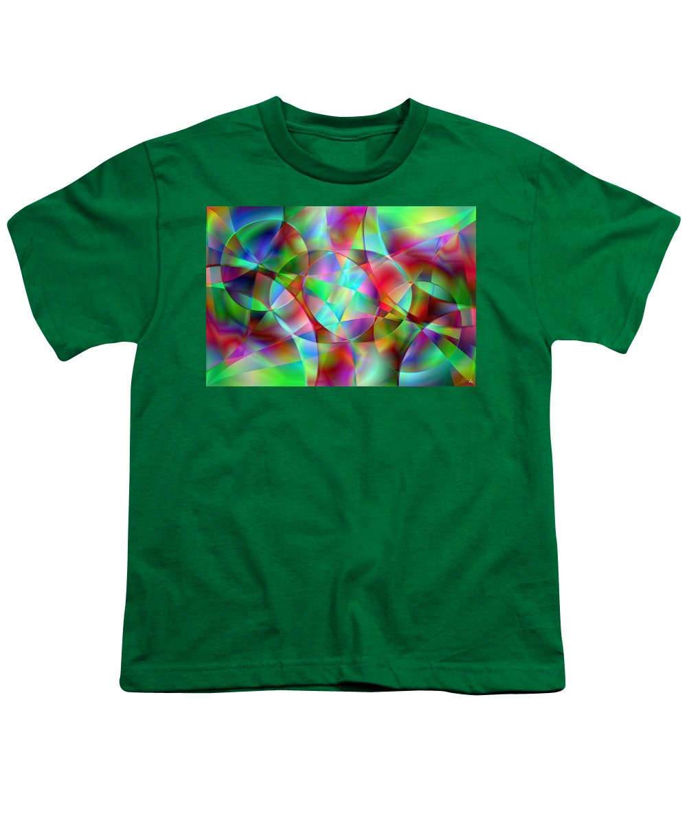 Colors Youth T-Shirt featuring the digital art Vision 27 by Jacques Raffin