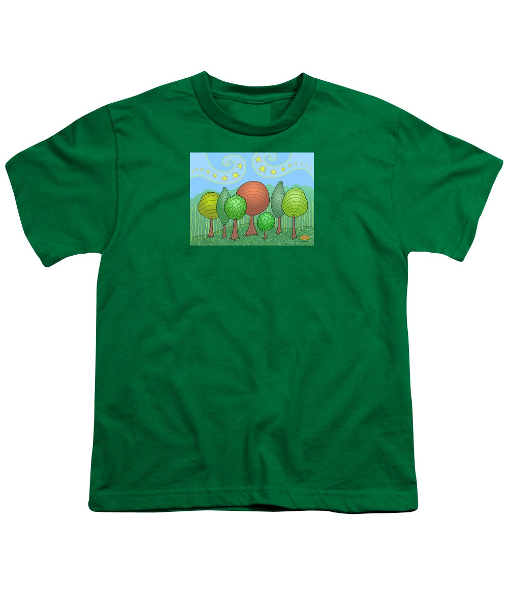 Family Youth T-Shirt featuring the digital art My Family by Susan Bird Artwork