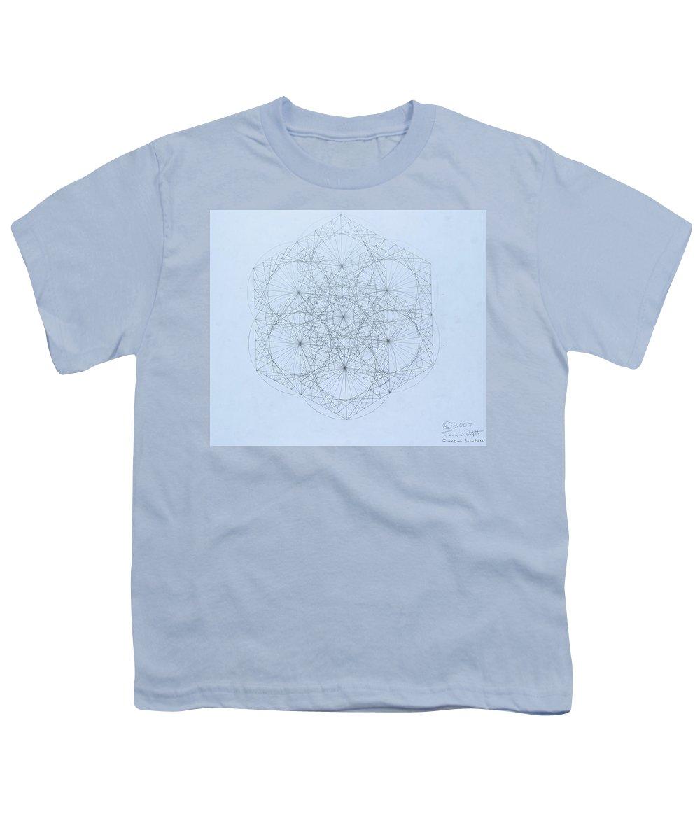 Jason Padgett Youth T-Shirt featuring the drawing Quantum Snowflake by Jason Padgett