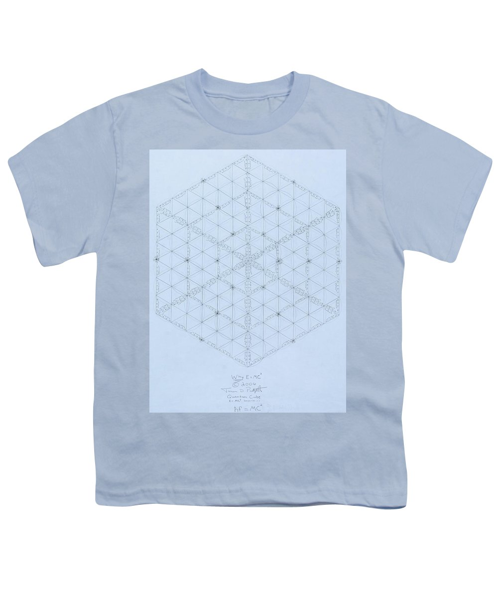 Energy Youth T-Shirt featuring the drawing Why Energy Equals Mass Times The Speed Of Light Squared by Jason Padgett