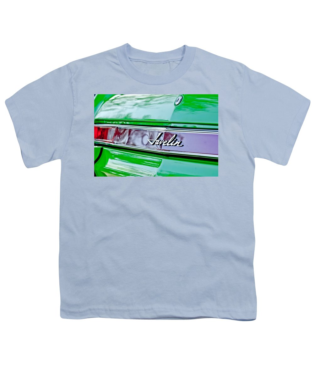 2db65941 1969 Amc Javelin Sst Taillight Emblem Youth T-Shirt featuring the  photograph 1969 Amc Javelin