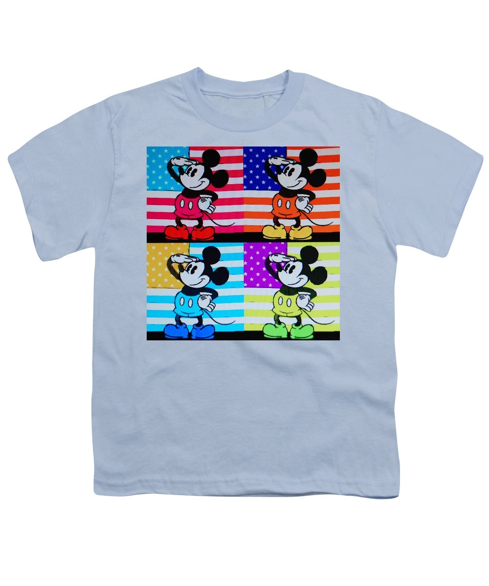 Mickey Mouse Youth T-Shirt featuring the photograph American Mickey by Rob Hans