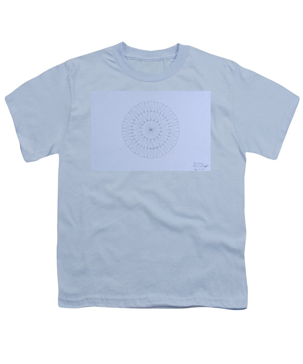 Jason Padgett Youth T-Shirt featuring the drawing Energy Wave 20 Degree Frequency by Jason Padgett