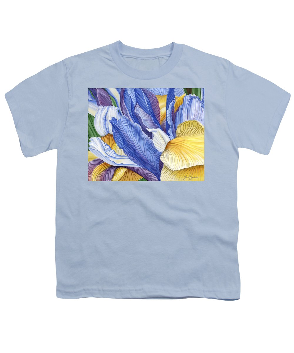Iris Youth T-Shirt featuring the painting Iris by Jane Girardot