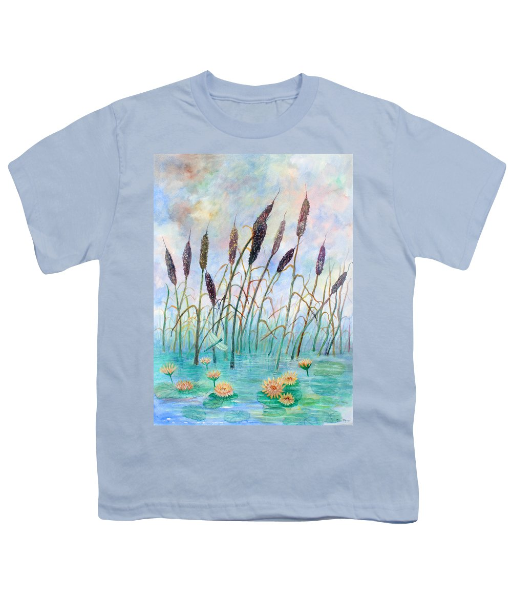 Pond Youth T-Shirt featuring the painting Joy Of Summer by Ben Kiger