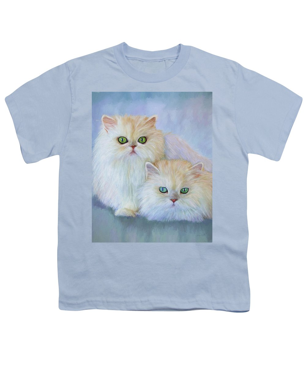 Cat Youth T-Shirt featuring the painting Katrina And Bjorn by David Wagner