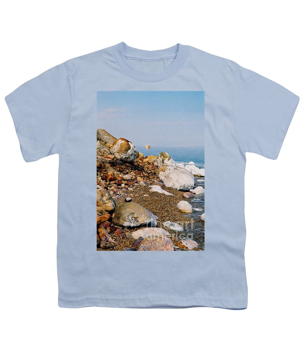 Dead Sea Youth T-Shirt featuring the photograph Lot's Wife by Kathy McClure