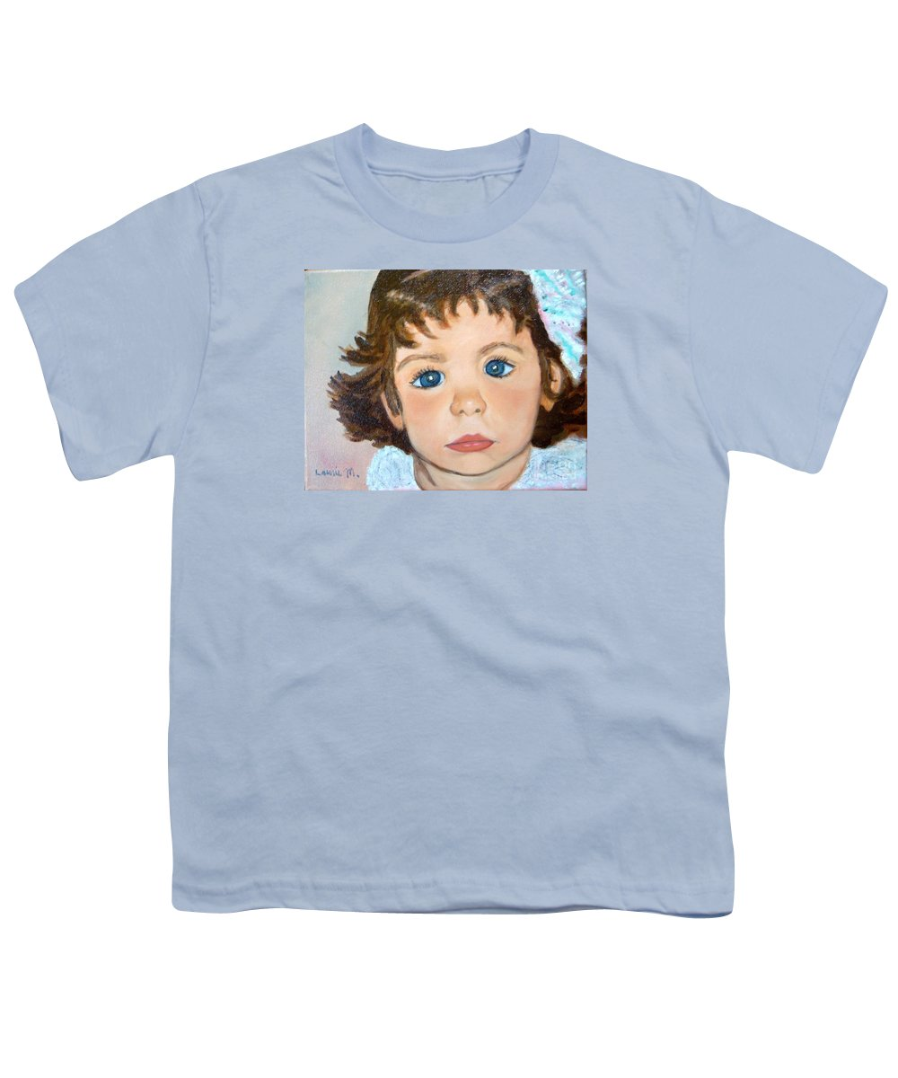 Portrait Youth T-Shirt featuring the painting Nikki by Laurie Morgan