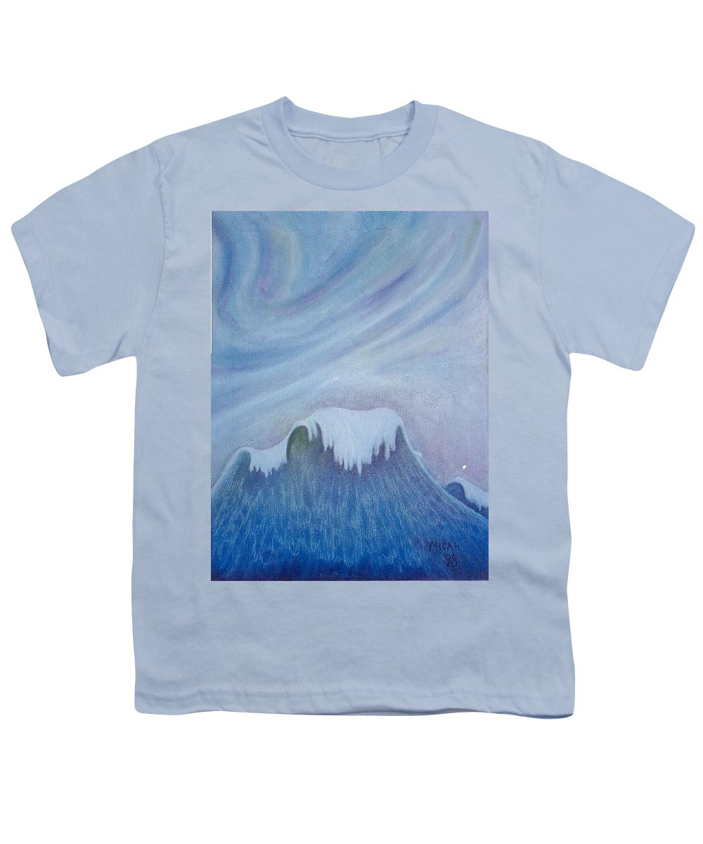Ocean Youth T-Shirt featuring the painting Ocean Wave by Micah Guenther