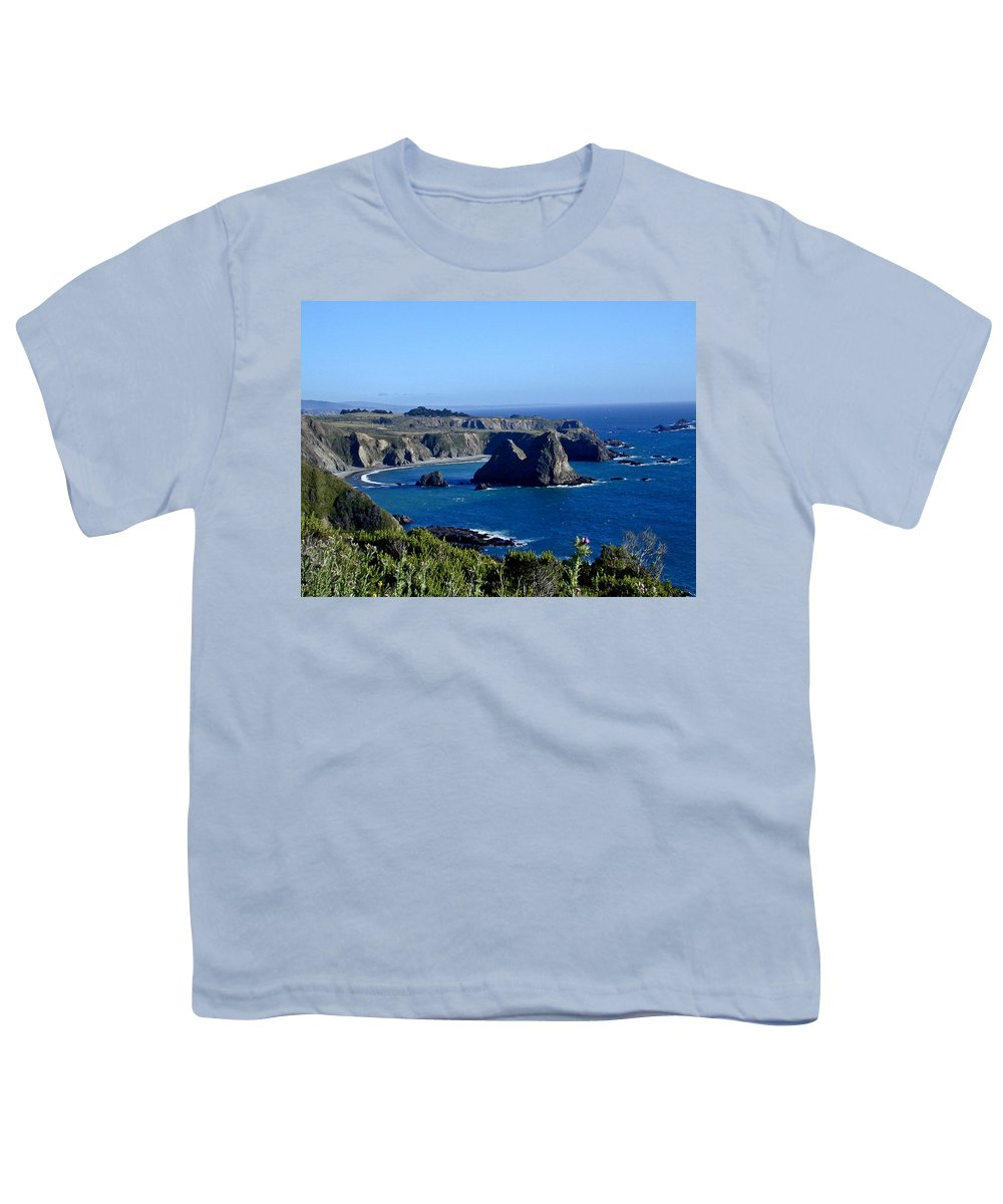 Sea Youth T-Shirt featuring the photograph Sea Coast Of Northern California by Douglas Barnett
