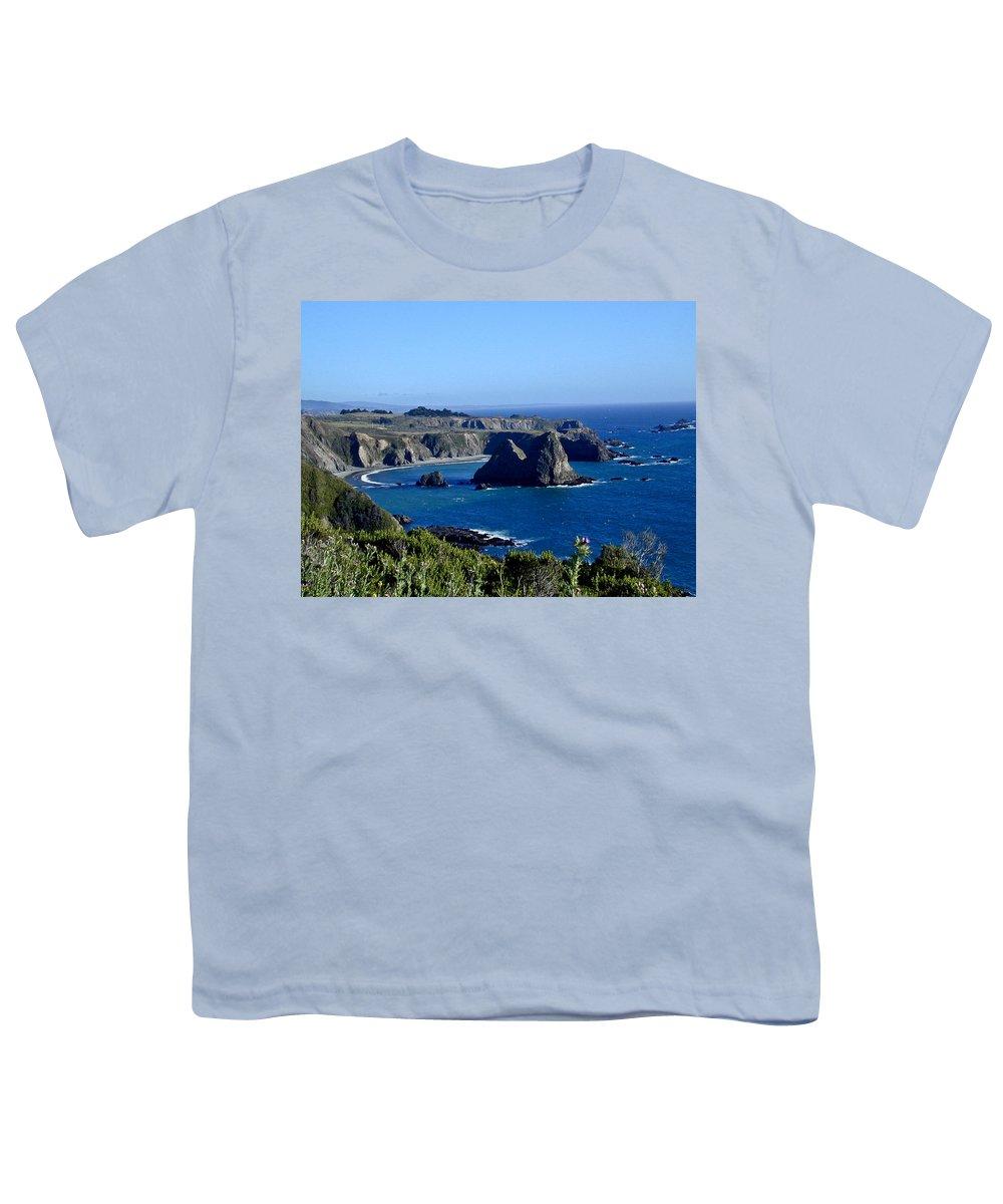 Sea Youth T-Shirt featuring the photograph Sea Coast Of Northern California by Douglas Barnett