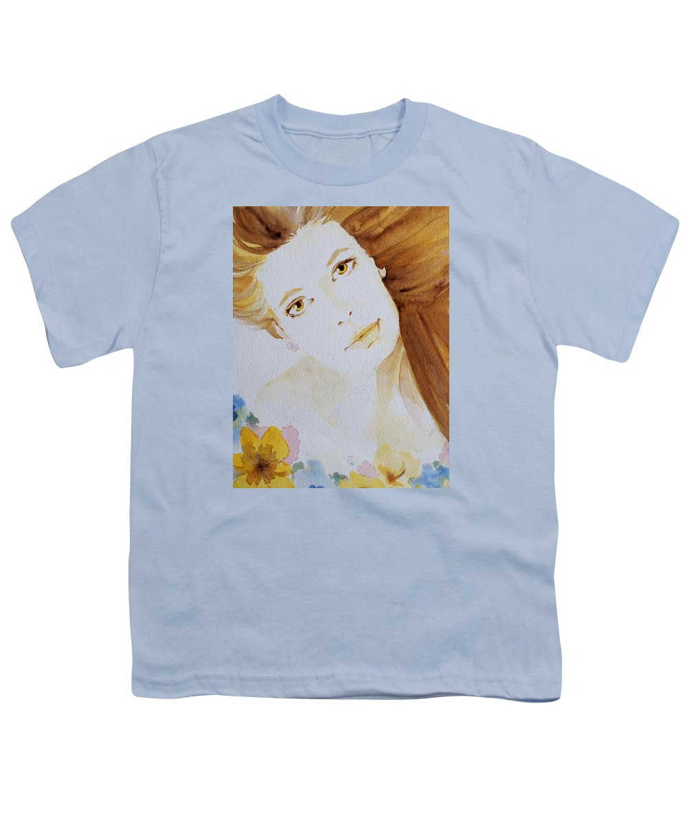 Watercolour Youth T-Shirt featuring the painting Still Waters' Reflection by Janice Gell
