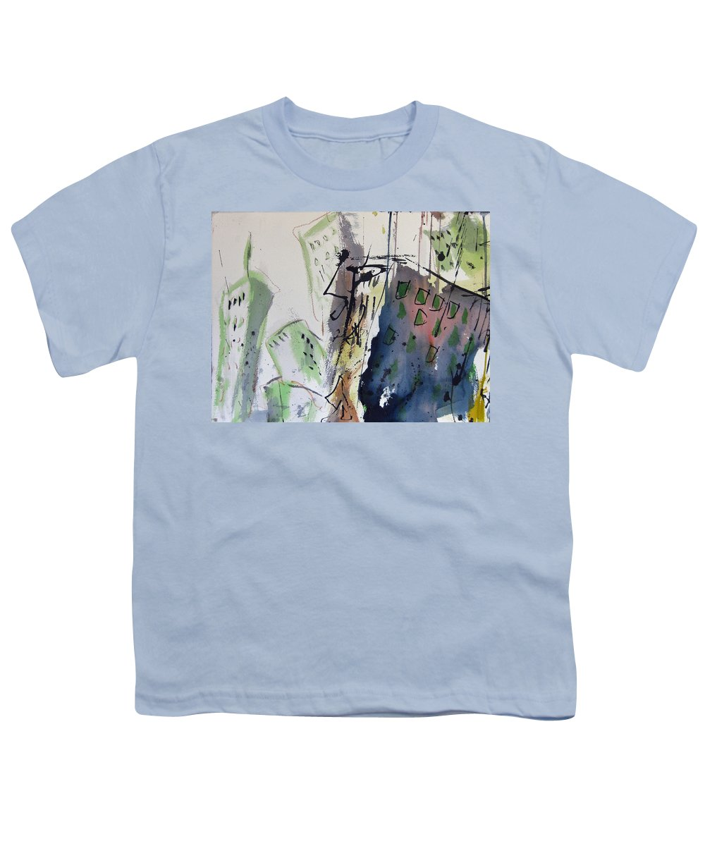City Youth T-Shirt featuring the painting Uptown by Robert Joyner