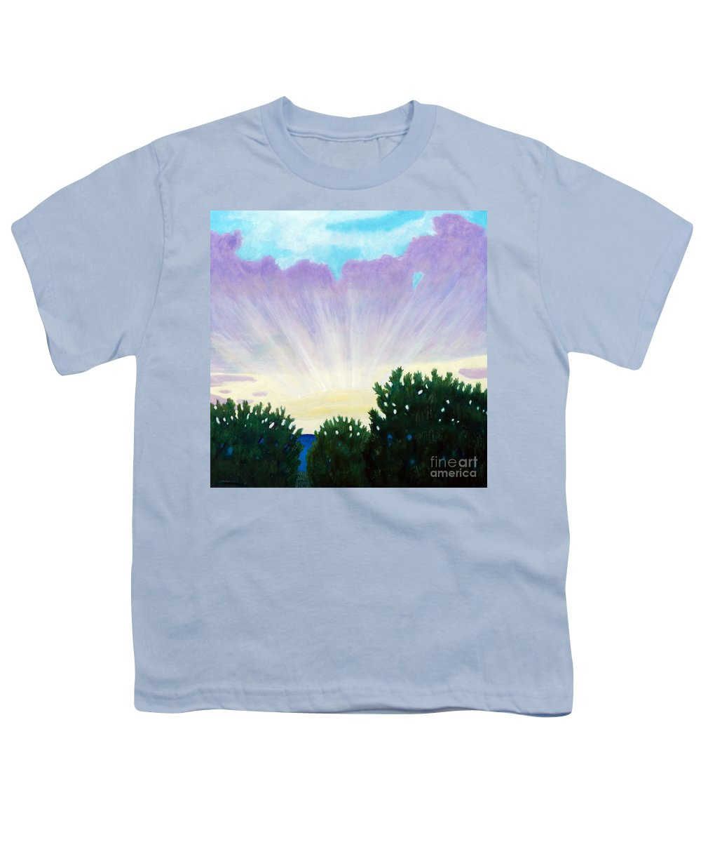 Skyscape Youth T-Shirt featuring the painting Visionary Sky by Brian Commerford