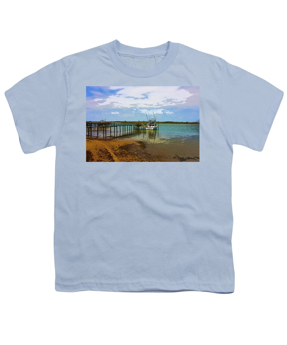 Boat Youth T-Shirt featuring the digital art Waiting For You by Betsy Knapp