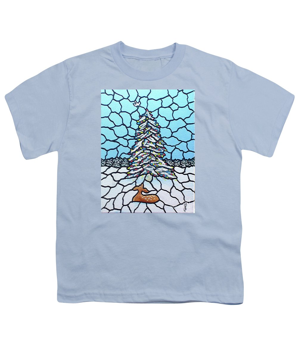 Peace Youth T-Shirt featuring the painting Let There Be Peace by Jim Harris
