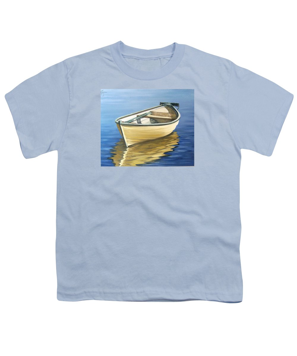 Still Life Youth T-Shirt featuring the painting Calm by Natalia Tejera
