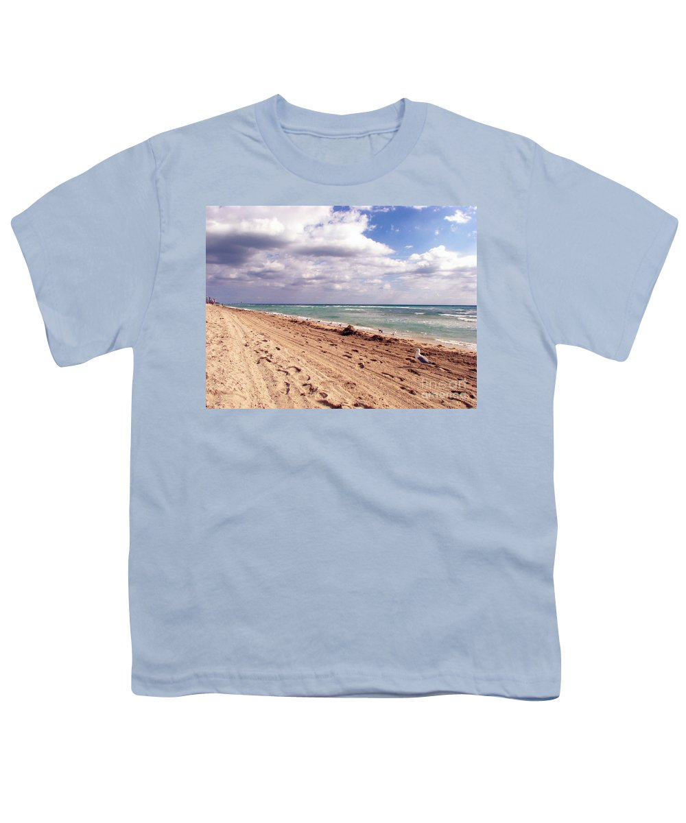 Beaches Youth T-Shirt featuring the photograph Miami Beach by Amanda Barcon