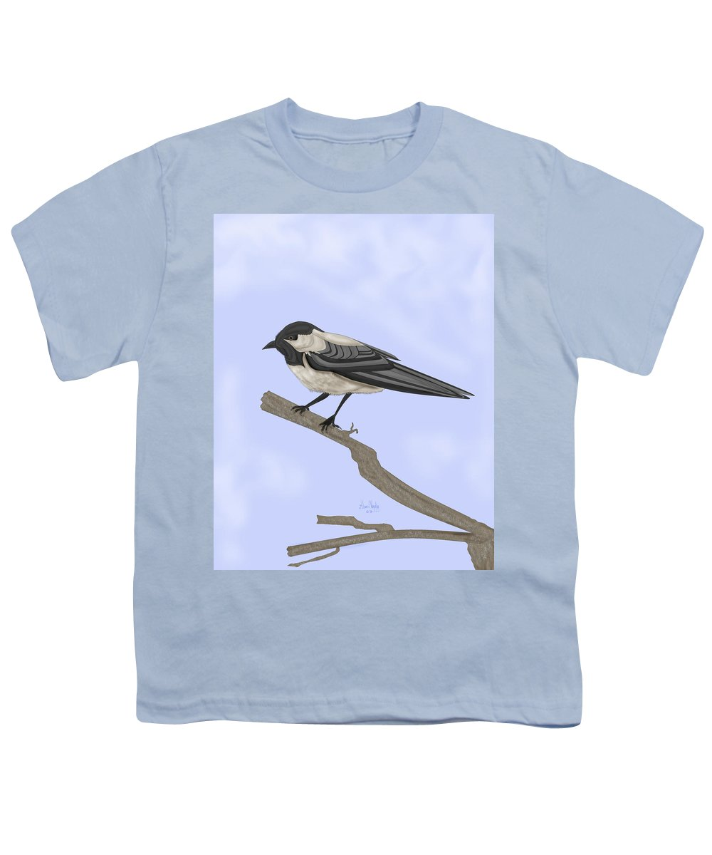 Bird Youth T-Shirt featuring the painting A Small Guest by Anne Norskog