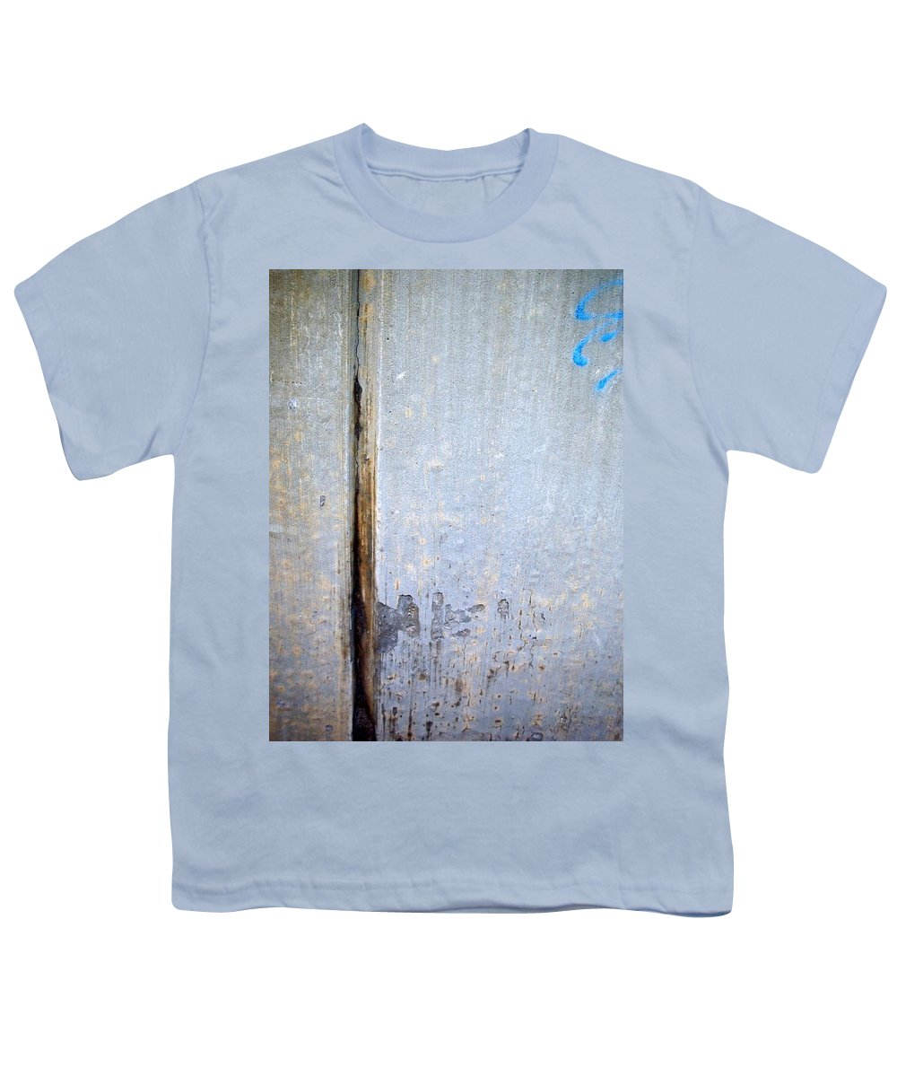 Industrial. Urban Youth T-Shirt featuring the photograph Abstract Concrete 19 by Anita Burgermeister