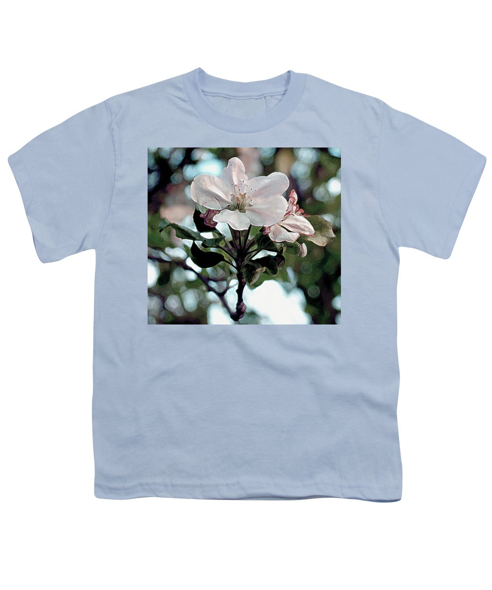 Flowers Youth T-Shirt featuring the painting Apple Blossom Time by RC deWinter