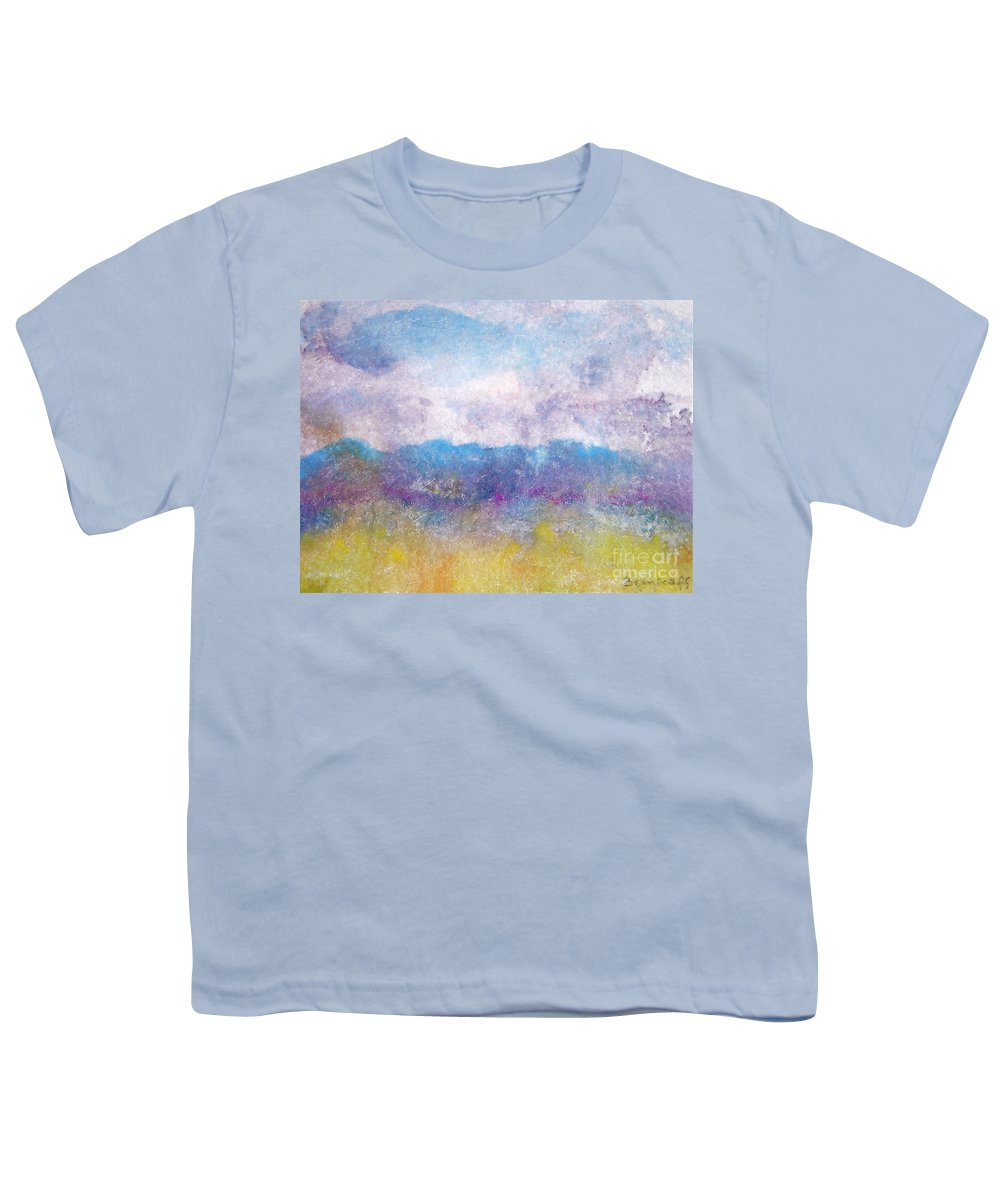 Abstract Youth T-Shirt featuring the painting Arizona Impressions by Jan Bennicoff