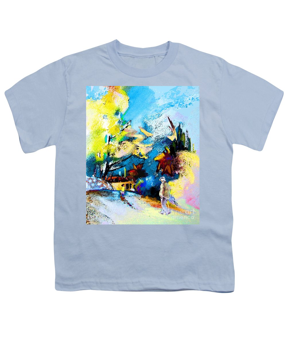 Pastel Painting Youth T-Shirt featuring the painting Back Home by Miki De Goodaboom
