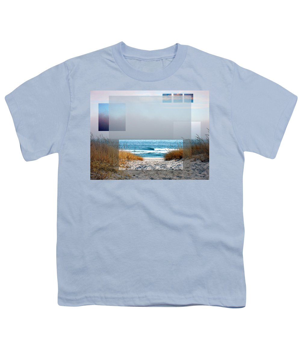 Beach Youth T-Shirt featuring the photograph Beach Collage by Steve Karol