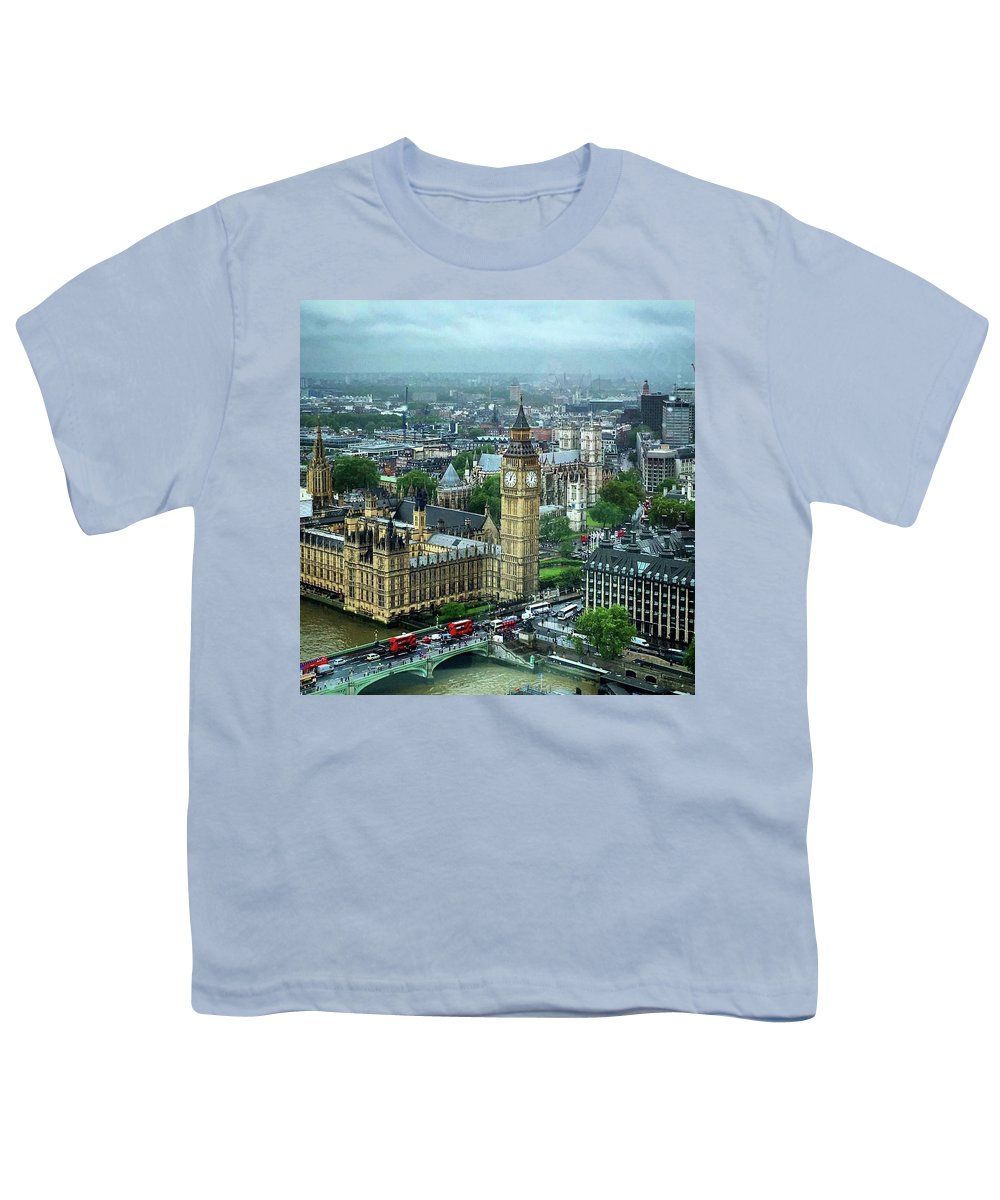 Big Ben Youth T-Shirt featuring the photograph Big Ben From The London Eye by Nancy Ann Healy