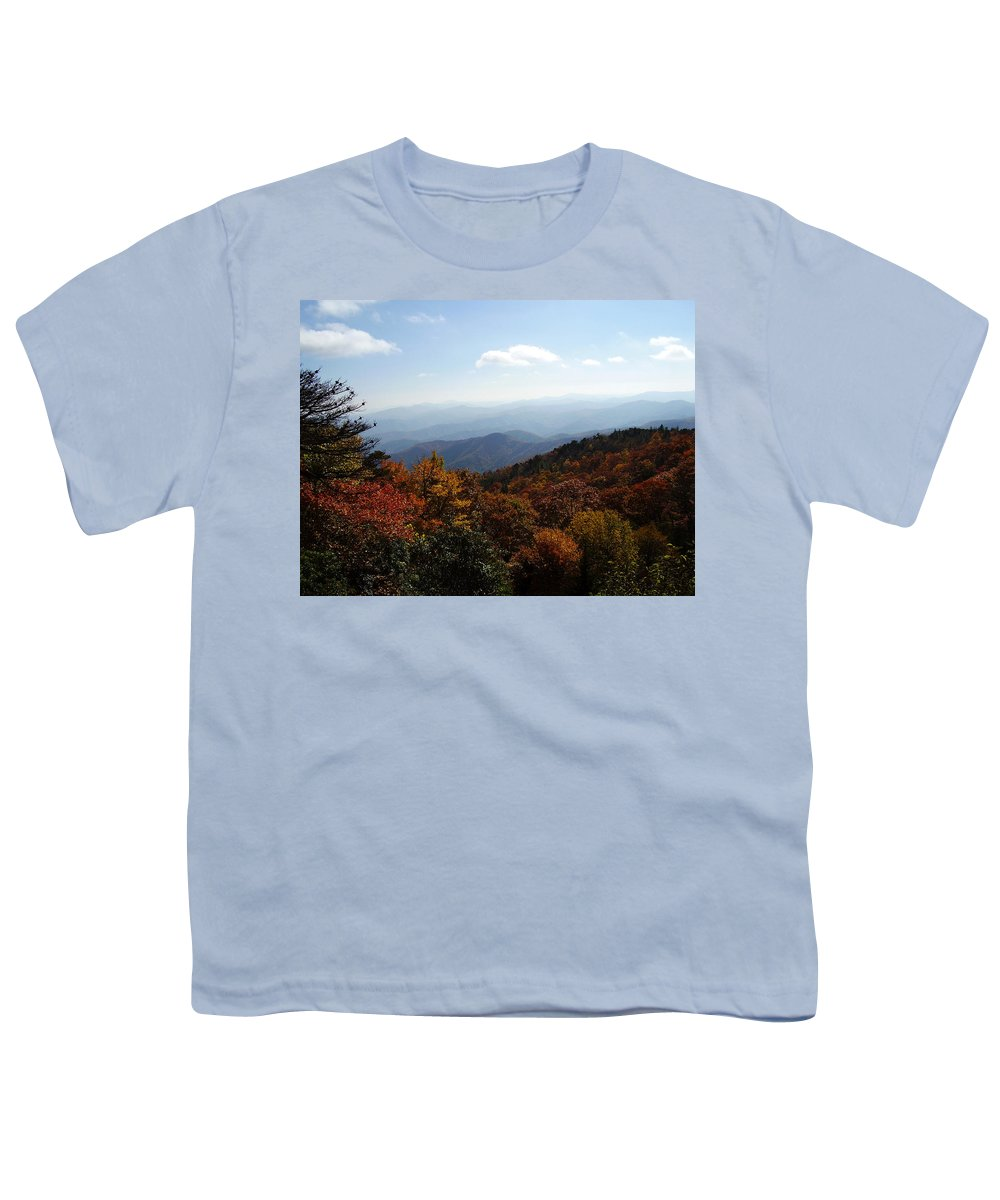 Blue Ridge Mountains Youth T-Shirt featuring the photograph Blue Ridge Mountains by Flavia Westerwelle