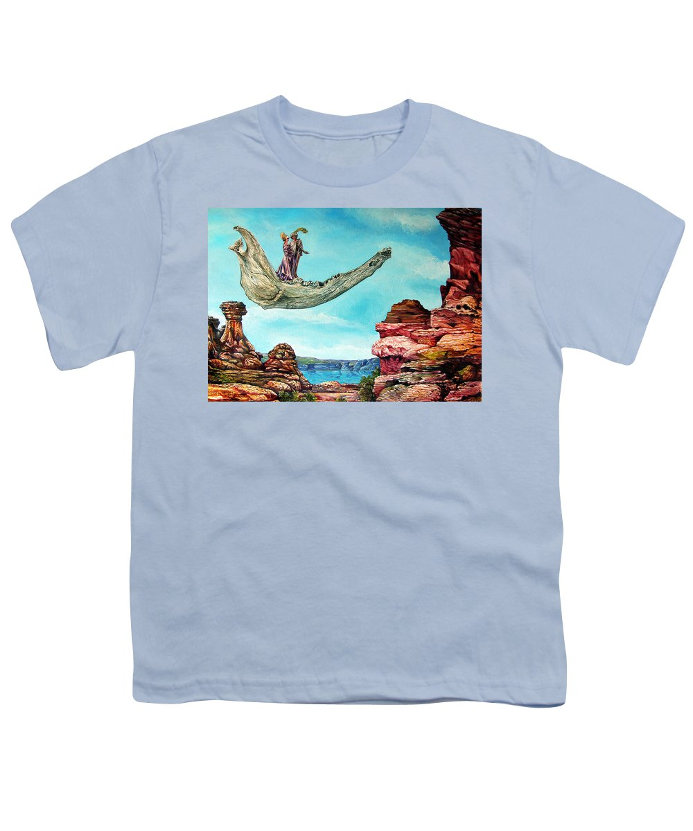 Painting Youth T-Shirt featuring the painting Bogomils Journey by Otto Rapp