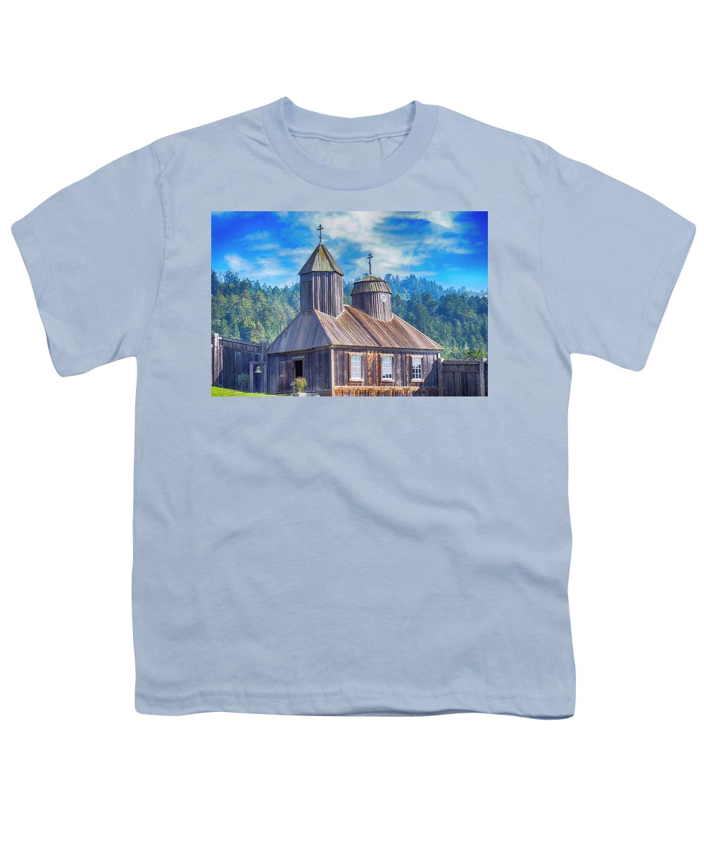 Chapel Youth T-Shirt featuring the photograph Bozhe, Tsarya Khrani by Bryan Spellman