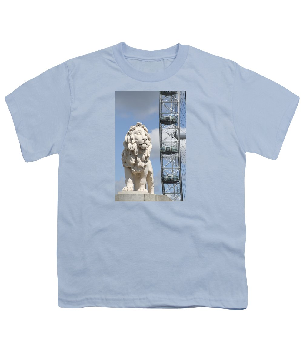 Lion Youth T-Shirt featuring the photograph Britannia Lion by Margie Wildblood