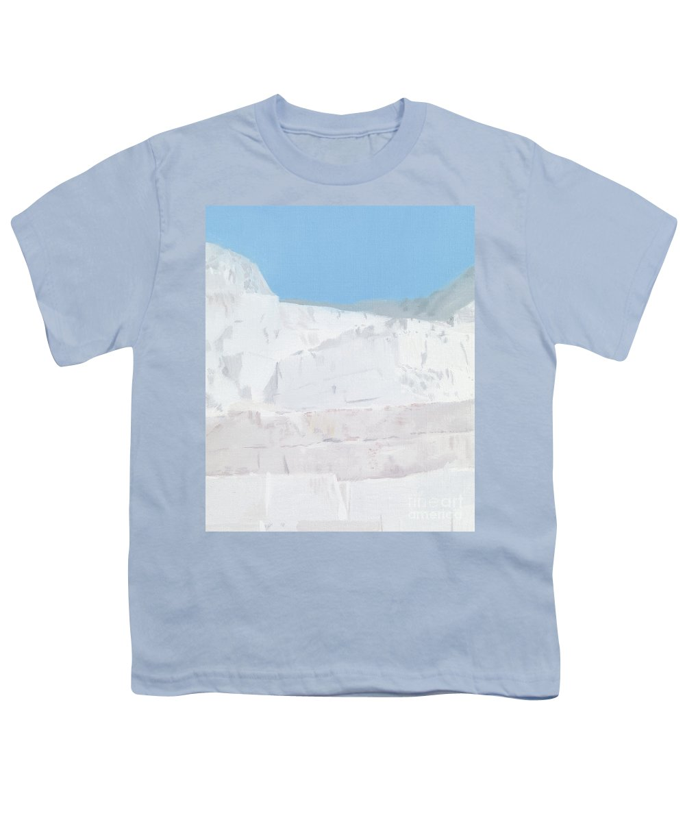 White Carrara Marble Youth T-Shirts