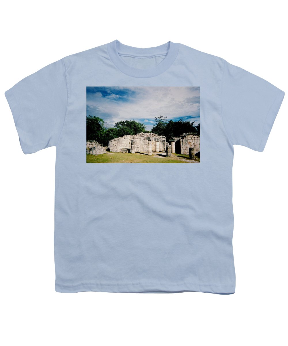 Chitchen Itza Youth T-Shirt featuring the photograph Chichen Itza 2 by Anita Burgermeister