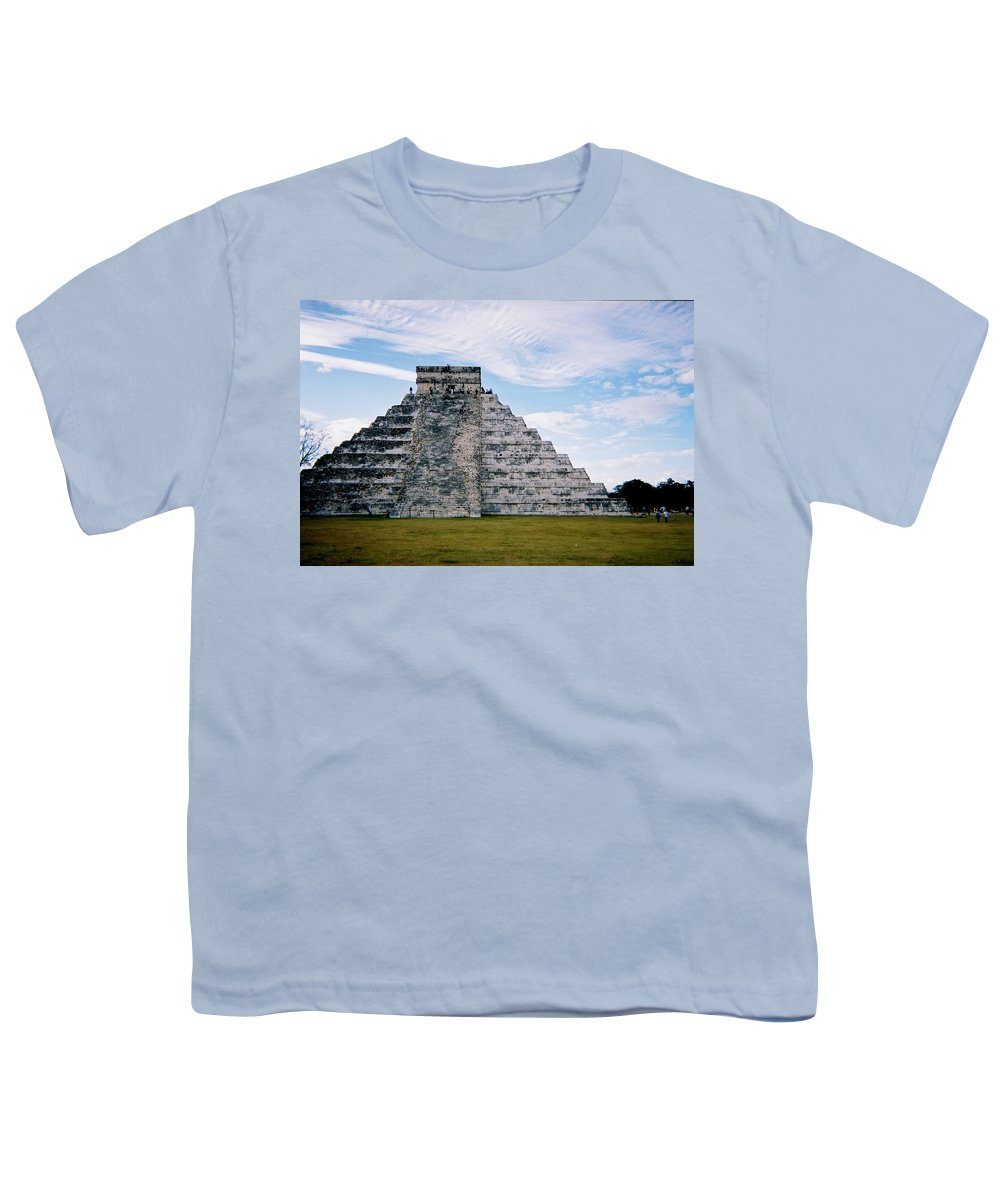 Chitchen Itza Youth T-Shirt featuring the photograph Chichen Itza 4 by Anita Burgermeister