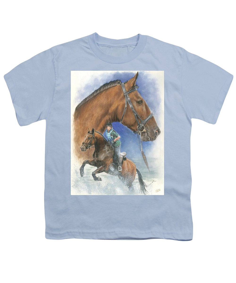 Hunter Jumper Youth T-Shirt featuring the mixed media Cleveland Bay by Barbara Keith