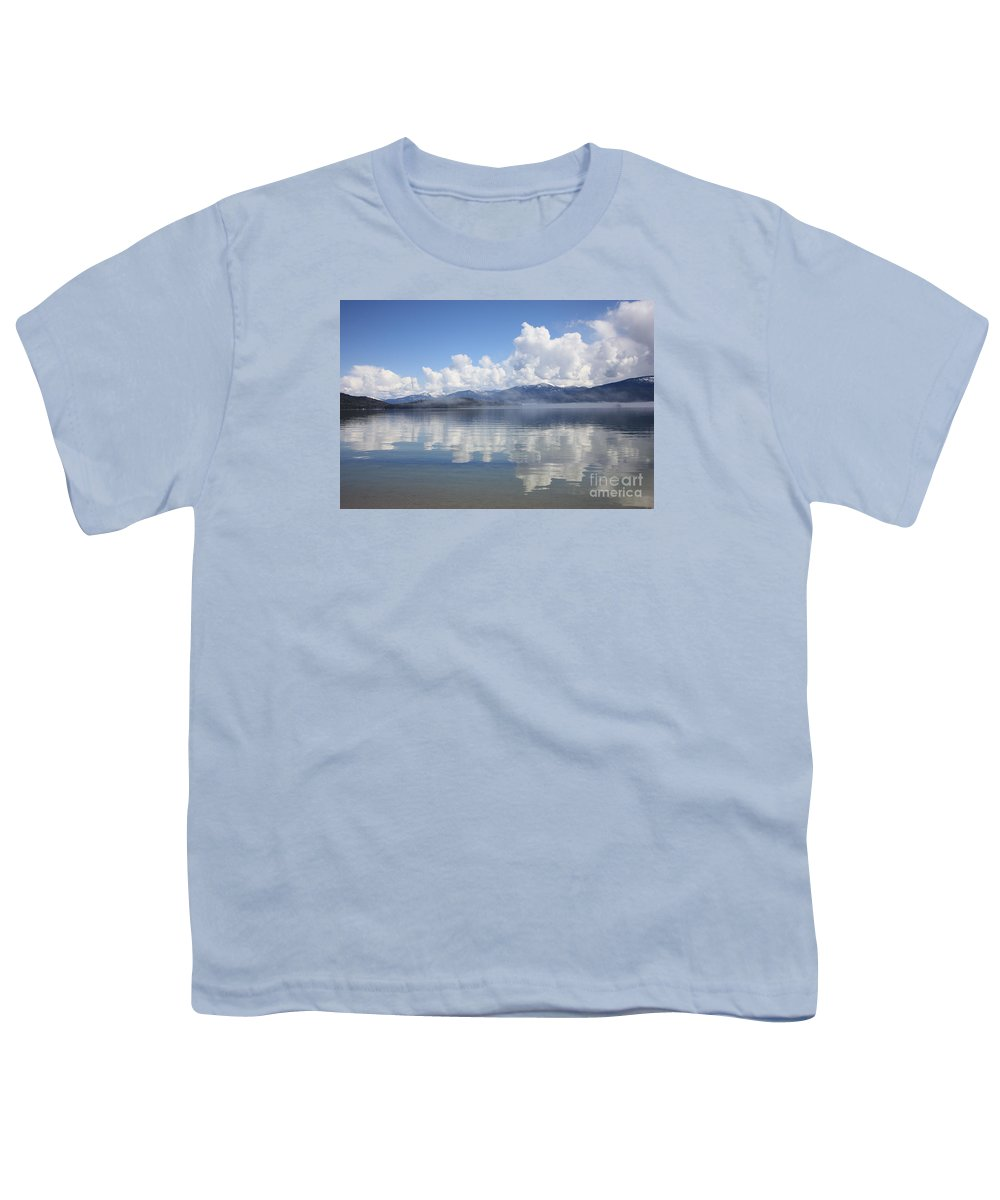 Clouds Youth T-Shirt featuring the photograph Cloud Reflection On Priest Lake by Carol Groenen