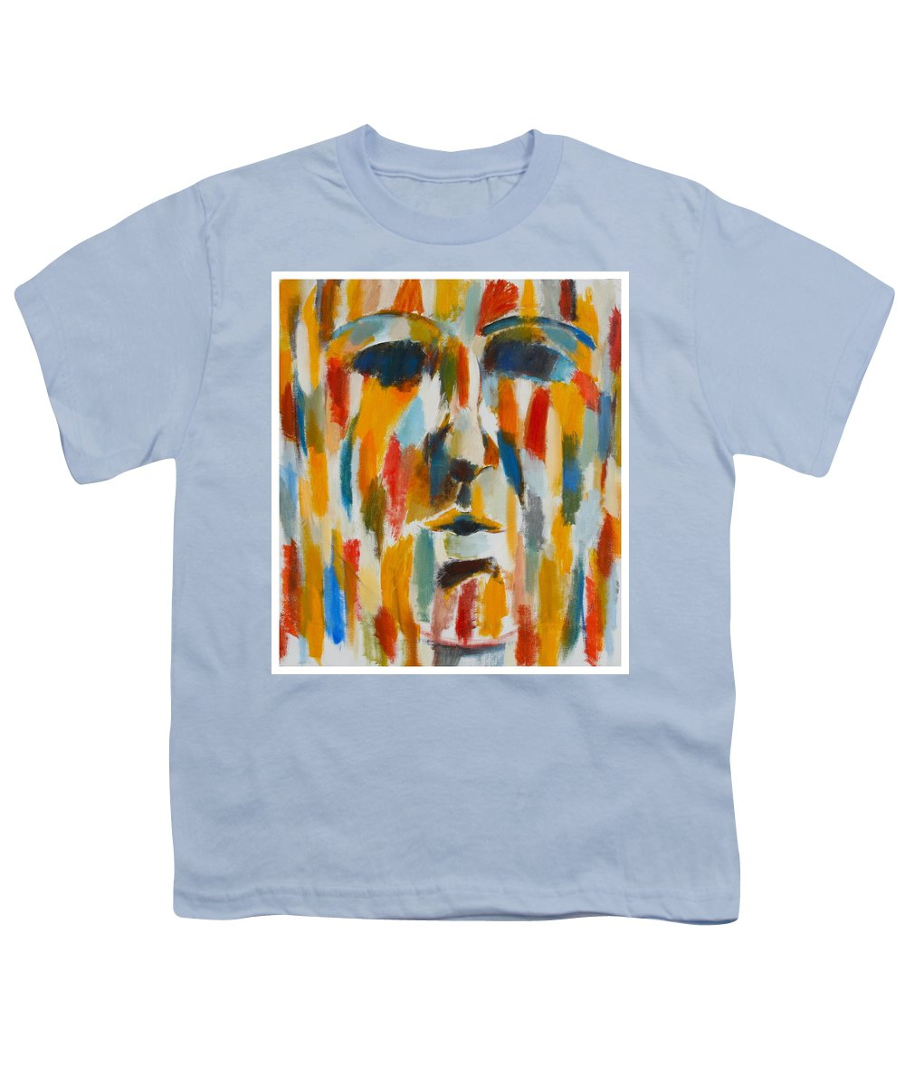 Yellow Youth T-Shirt featuring the painting Color Blind by Habib Ayat